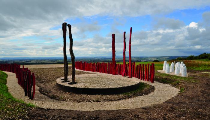 Climb a steep hill and find a sculpture at Wintringham