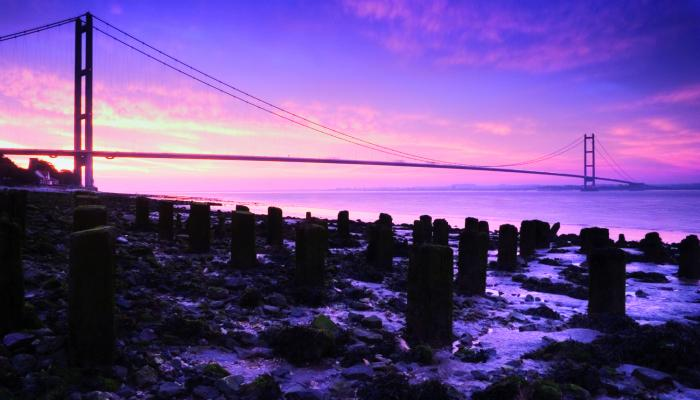 Get up close to the Humber Bridge