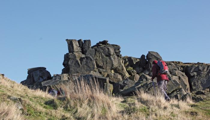 Scramble through the Wainstones © Mike Kipling