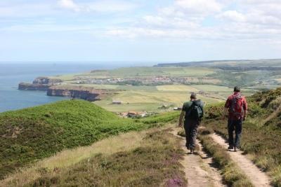 Be the highest person on the East Coast of England at Boulby Cliff, Staithes